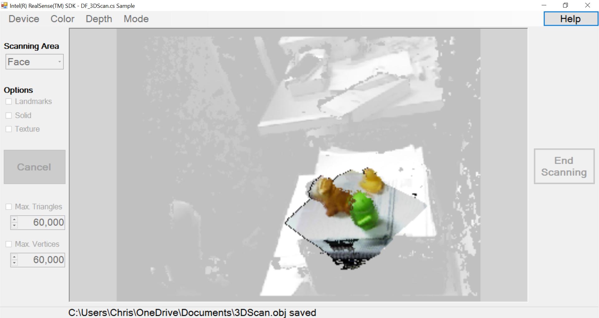 Intel R200 Scan UI
